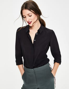 Black The Silk Shirt