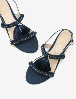 Navy Carin Sandals