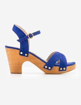 Klein Blue Olivia Clog Sandals