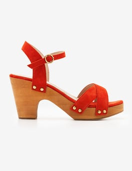 Blood Orange Olivia Clog Sandals