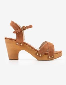 Tan Olivia Clog Sandals