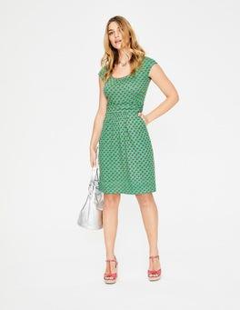 Foliage Ditsy Woodblock Margot Jersey Dress