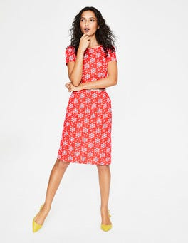 Blood Orange Floral Sprig Phoebe Jersey Dress