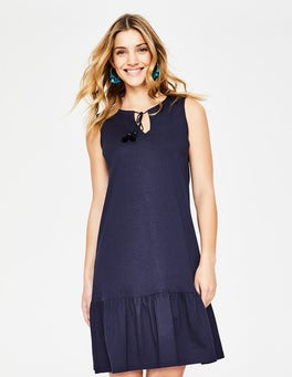 Navy Arabella Jersey Dress