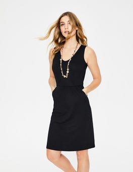 Black Melinda Jersey Dress
