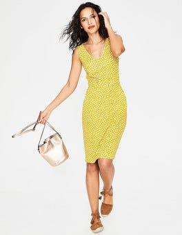Mimosa Yellow Spotty Daisy Melinda Jersey Dress