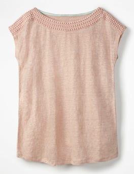 Linen Boatneck Jersey Top