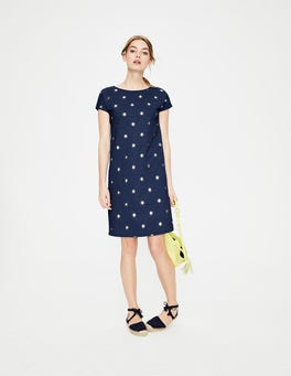 Navy Spaced Primrose Paulina Jersey Dress