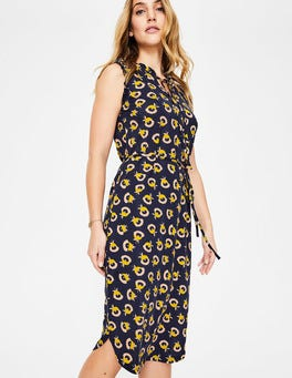 Navy Flower Cups Lois Jersey Dress