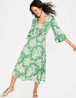 Foliage Paisley Garden Louisa Jersey Dress