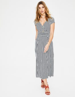 Ice Grey Retro Spot Lily Jersey Dress