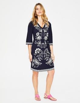Navy/Ivory Clemmie Jersey Dress