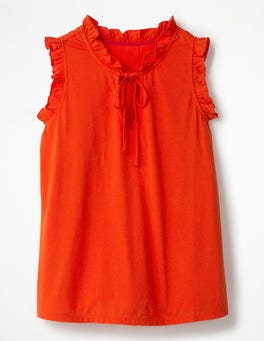 Blood Orange Lara Jersey Top