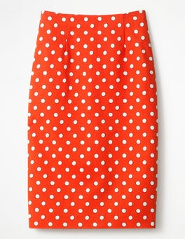 Blood Orange Polka Hoops Small Richmond Pencil Skirt