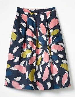Navy, Brush Stroke Spray Lola Skirt