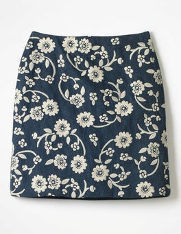 Dark Vintage Fun Embroidered Skirt