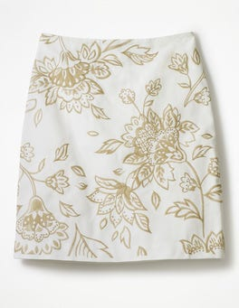 White Fun Embroidered Skirt