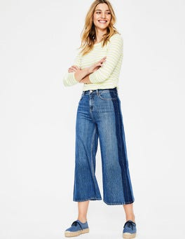 Side Stripe York Cropped Jeans