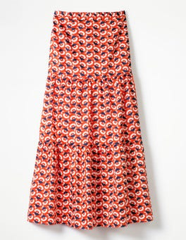 Blood Orange, Flower Cup Geo Thea Maxi Skirt
