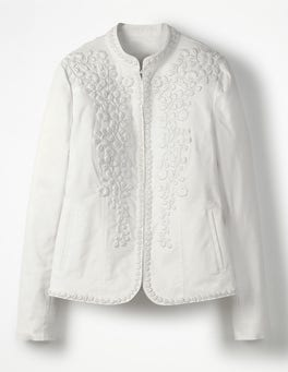 White Julianna Embroidered Jacket