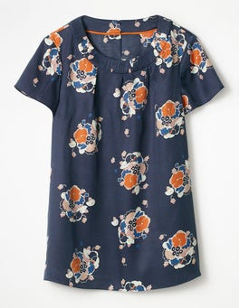 Navy Blooming Bouquet Carey Top