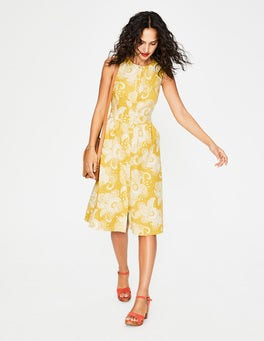 Mimosa Yellow Paisley Garden Leila Shirt Dress