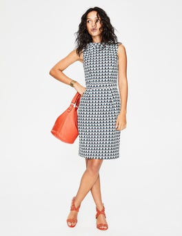 Ice Grey Retro Spot Martha Dress