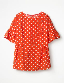 Blood Orange Blue, Polka Hoops Caroline Top