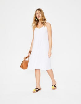 White Emmeline Pintuck Dress
