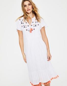 NaturweißEvelyn Kleid Mit Stickerei