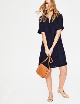 Navy Helene Broderie Dress