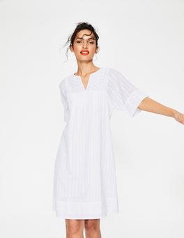 White Helene Broderie Dress