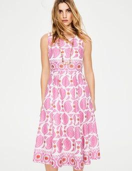 Pink, Zweifarbiges Paisleymuster Lizzie Kleid
