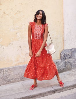 Broderie Scallop Dress