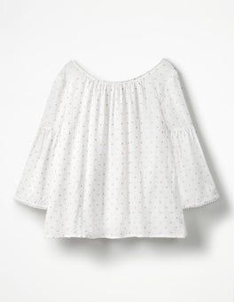 White Tilda Glitter Top