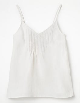 White Emmeline Pintuck Top