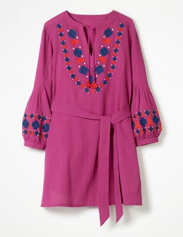 Fuchsia Odetta Embroidered Kaftan