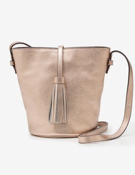 Rose Gold Metallic Tana Crossbody Bag