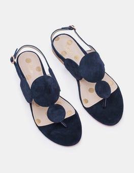 Navy Aubury Sandals
