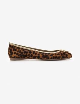 Tan Leopard Ballerinas