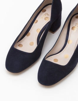 Navy Hope Mid Heel Courts