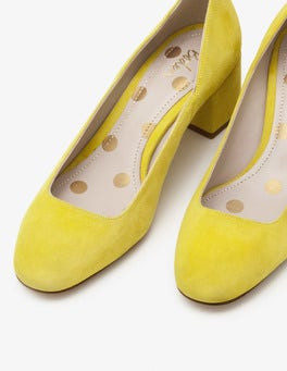 Mimosa Yellow Hope Mid Heel Pumps