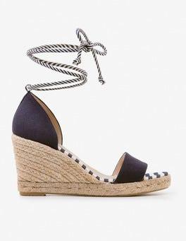 Chaussures compensées Edana style espadrilles