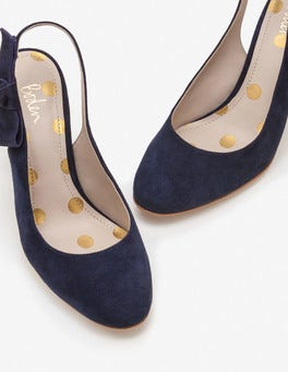 Navy Sena Slingbacks