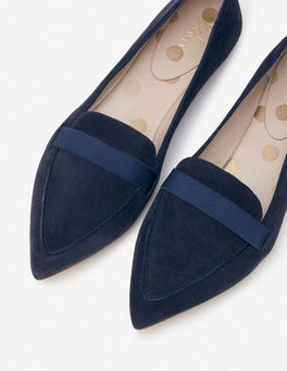 Navy Abbie Loafers
