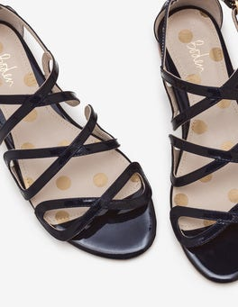 Navy Adela Sandals