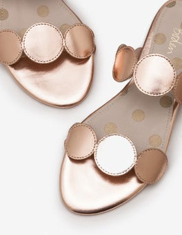 Rose Gold Metallic Briana Slides