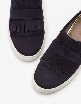 Navy Rayna Slip-on Trainers