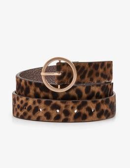 Motif léopard fauve Ceinture classique