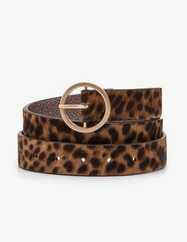 Tan Leopard Classic Belt